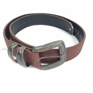Vintage A Brod Belt Brown Leather  Boho Western